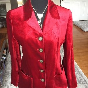 ESCADA  red velvet coat